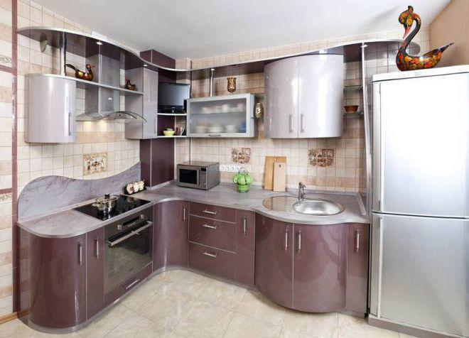 кухни со сложенными фасадами