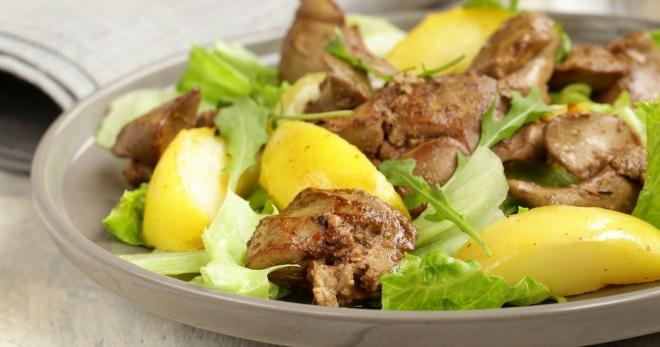 Hidangan Dari Hati Daging Lembu Ayam Dan Daging Babi